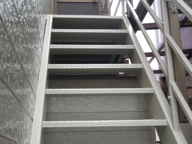 倉敷市 T様邸 外部鉄骨階段塗装工施工事例