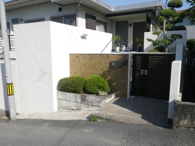 倉敷市羽島 N様邸 塀塗装工事