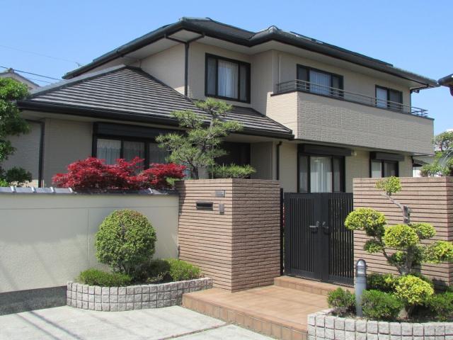 倉敷市東富井 K様邸 外壁・塀塗装工事