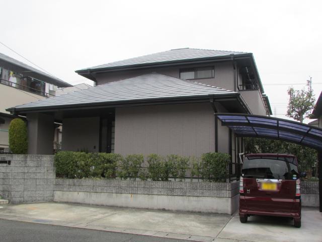 岡山市北区津高台 I様邸 屋根・外壁塗装工事例