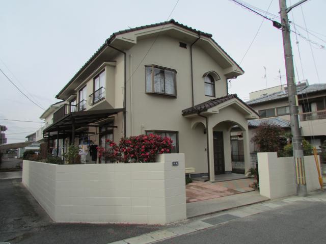 岡山市北区下中野 H様邸 外壁・塀塗装工事例