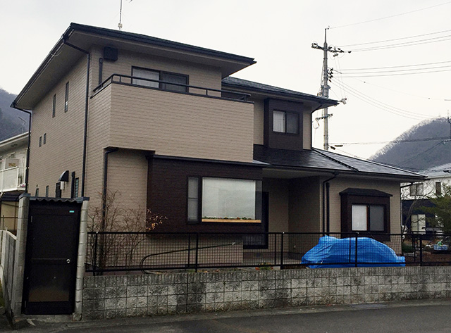岡山市北区 U様邸 屋根・外壁塗装施工事例・施工後