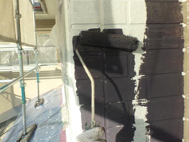 岡山市北区 U様邸 屋根・外壁塗装施工事例・施工中