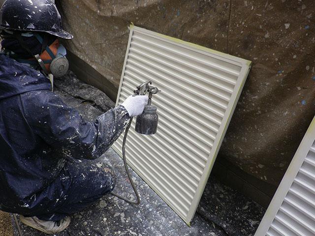総社市 Y様邸 外壁塗装施工事例・施工中