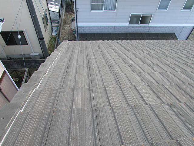 倉敷市安江 N様邸 屋根外壁塗り替え工事施工前