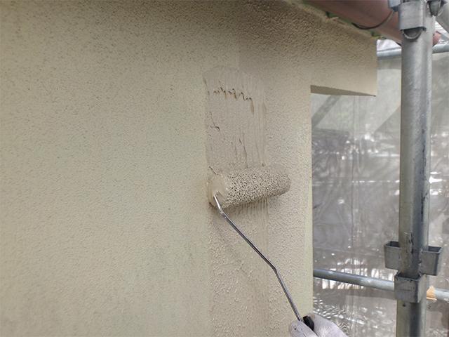 久米郡久米南町 S様邸 外壁塗り替え工事施工中