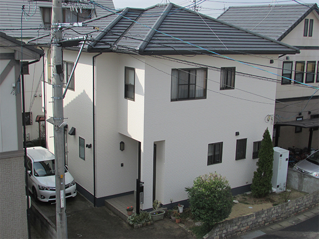 岡山市中区 U様邸 外壁塗装施工事例