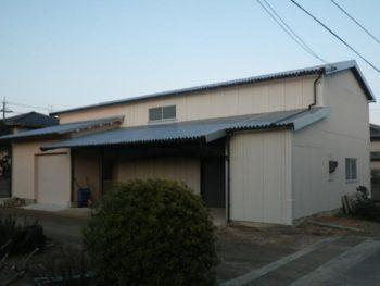 倉敷市 S様邸農業用倉庫 外壁・鉄骨塗装事例