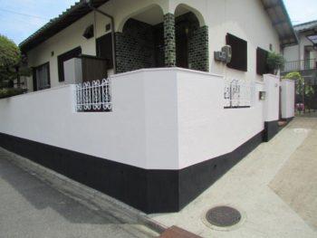 倉敷市中庄 Y様邸 塀塗装工事例