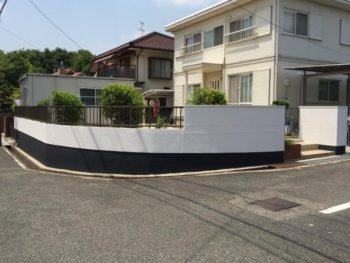 倉敷市中庄 S様邸 塀塗装工事例