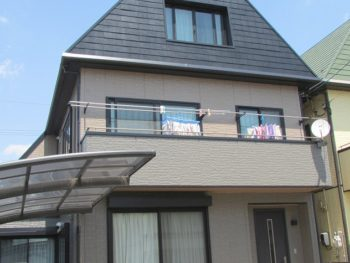 倉敷市幸町K様邸 外壁・屋根 塗装工事例