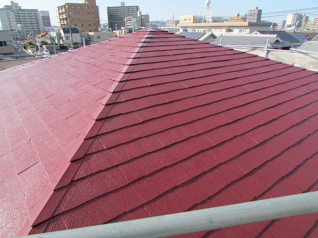岡山市北区K様邸 屋根塗装工事例
