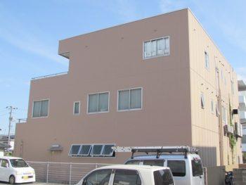 岡山市南区新保Kビル様 北面・南面外壁防水塗装工事例