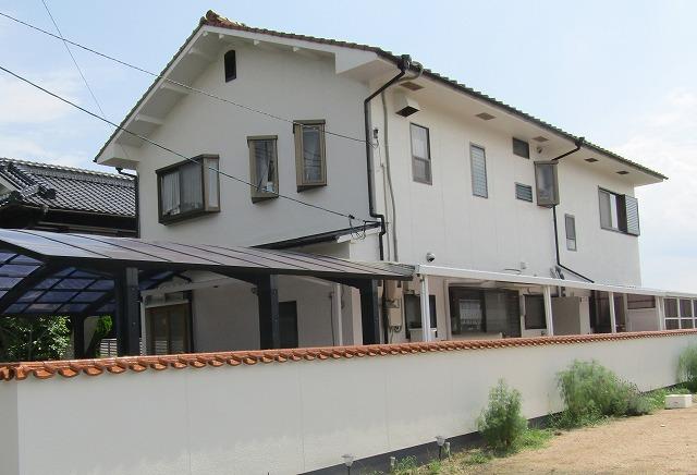 岡山市北区足守T様邸 外壁・塀塗装工事例
