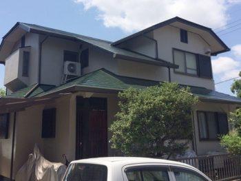岡山市I様邸 屋根外壁塗装工事例 無機塗料使用