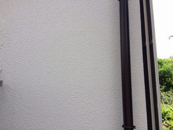 完成した外壁と樋