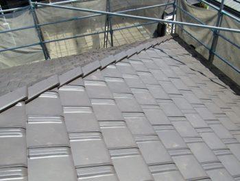 葺き替えし完成した屋根