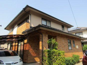 岡山市 屋根の葺き替えと外壁塗装 外壁はアウトレットでお安く