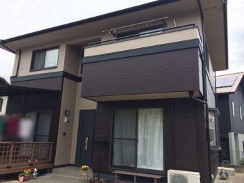 総社市西坂台 外壁、屋根塗装を無機塗料を使用し長持ちする家に