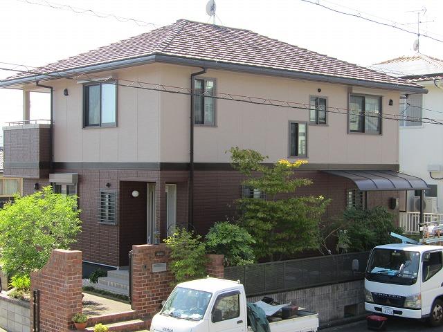 赤磐市 外壁塗装 無機塗料使用で長持ちする家に