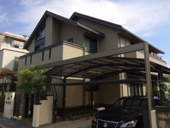 岡山市北区 外壁塗装 無機塗料できれいで素敵な家に