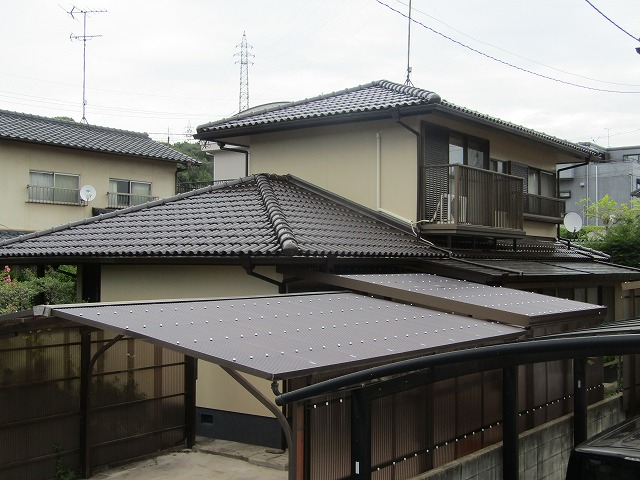 早島町屋根・外壁塗装、外壁はアウトレット塗料を使用しました。