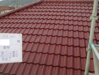 モニエル瓦の屋根塗装完成