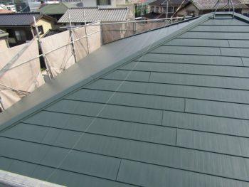 屋根カバー工法の完成