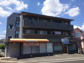 岡山市中区の雨漏りしていたマンションを屋上防水工事と外壁塗装