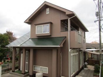倉敷市酒津 外壁はアウトレット塗料を使用し屋根は耐久性の高い無機塗料で