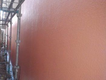 タイル面の施工完成