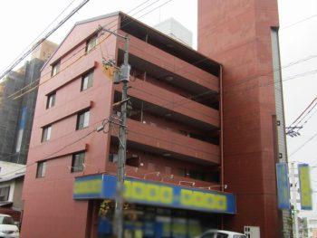倉敷市昭和町のマンション、タイルの剥落の改修はピンネット工法で