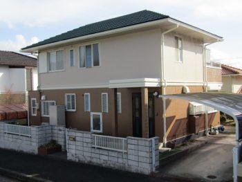 総社市 屋根も外壁も長持ちで強い無機塗料での塗装