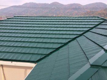 塗り替えした屋根