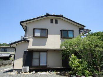 岡山市北区 外壁はゆず肌模様、破風はカバー工法で修繕