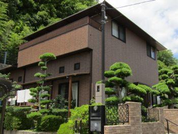 岡山市北区 外壁はクリアー塗装、屋根も長持ちのフッ素塗料で!