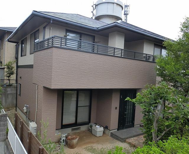 倉敷市有城 屋根は無機塗料、外壁はシリコン塗料で塗り替え