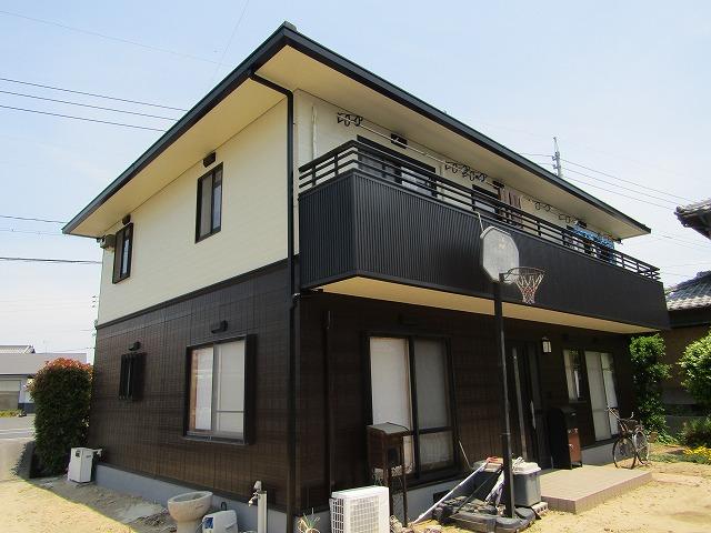 岡山市南区で外壁の塗装とバルコニーの修繕をしてオシャレに!