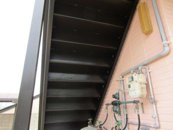 階段塗装の完成