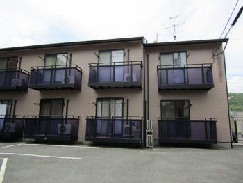 倉敷市二子のアパート、屋根も外壁もフッ素樹脂塗料で長持ち!