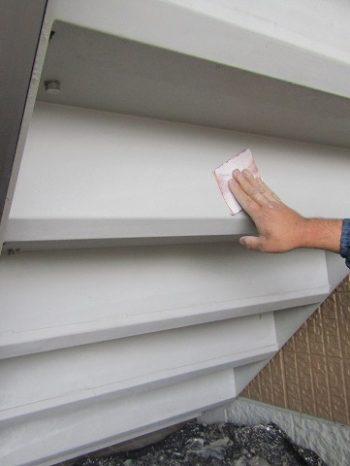 階段裏のケレン作業