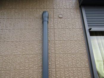 完成した外壁とエアコンダクトカバー