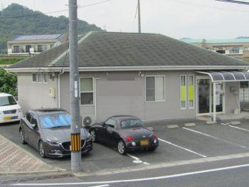 小田郡矢掛の店舗の塗装前