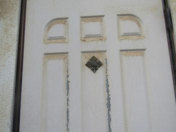 ドアの塗膜の剥がれ