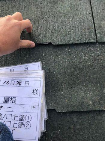 屋根にタスペーサーを取り付ける