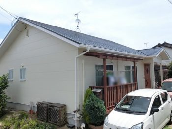 岡山市東区で屋根と外壁の塗り替え!外壁はアウトレットプランで!