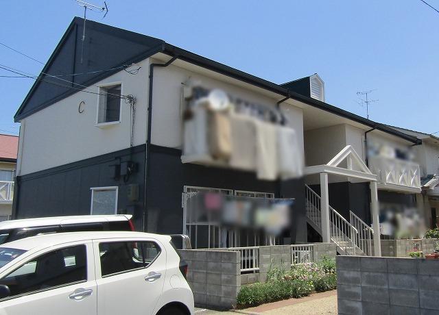 岡山市のアパート塗装!屋根から雨漏りで一部葺き替えしました!