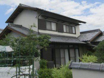倉敷市で和風家屋を外壁塗装!アウトレット塗料でお得に!