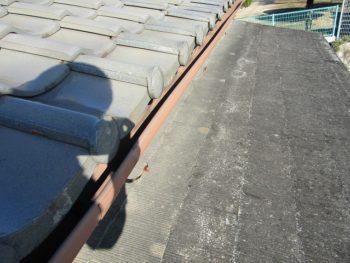 下屋根の葺き替え前