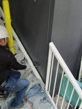 外壁の上塗り2回目